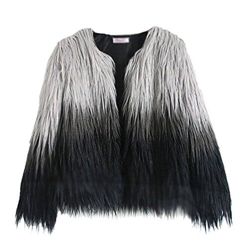 Veste Image Fourrure en Femme pour Manteau Faux Gilet Waistcoat YiLianDa Hiver Comme 0qPtdwnX