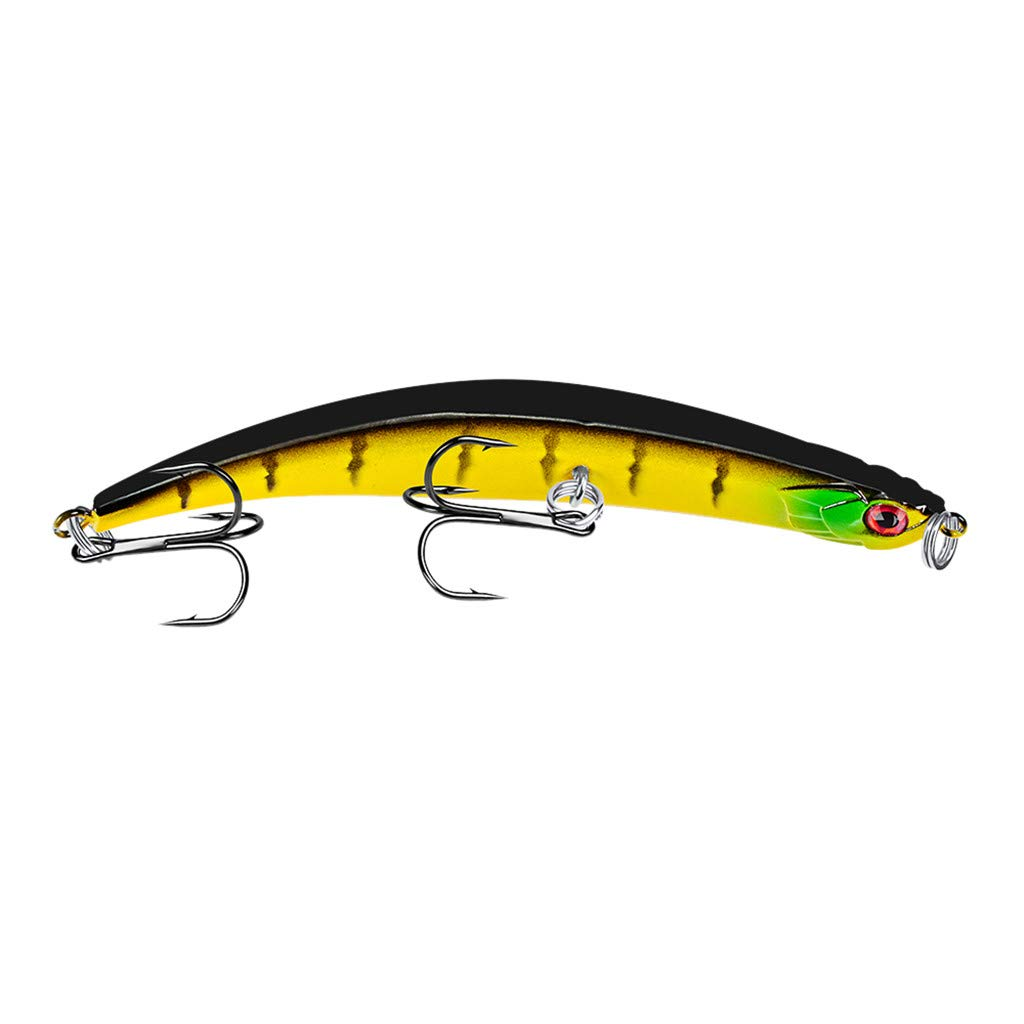 HighlifeS Fishing Bait 1Pc Artificial Fake More Colors Fish Bait Fishing Lure Bait Bionic Fishing Gear (D)