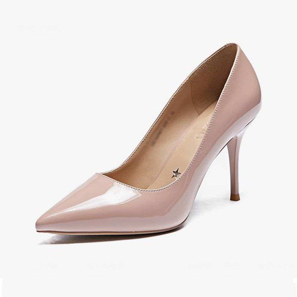 JIANXIN Damen Feine Fersen Fersen Fersen Und High Heels Und Spitzer Einzelner Schuhe Nackte Damenschuhe Frühling. (Farbe   Rosa größe   EU 39 US 8 UK 6 JP 25cm) 62052d