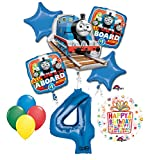 The Ultimate Thomas the Train Engine 4th Birthday Party Supplies and Balloon Decorations