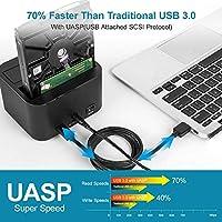 Unitek USB 3.0 a SATA I/II/III Dual Bay Disco duro externo ...