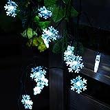 Snowflake Solar String Lights,