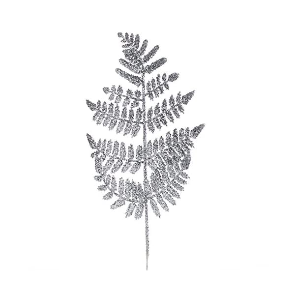 Factory-Direct-Craft-Group-of-12-Silver-Glittered-Artificial-Fern-Picks-for-Embellishing-Florals-Centerpieces-and-More