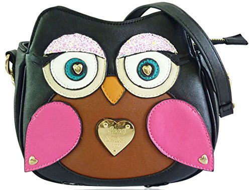 Owl Flappy Bag Miss Cute Bag 3d Ladies shoulder Black Anna Body Smith Little By Cross Lydc I6Xq78
