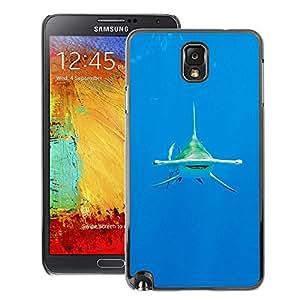 A-type Arte & diseño plástico duro Fundas Cover Cubre Hard Case Cover para Samsung Note 3 N9000 (Shark Diving Ocean Tropical Water Sea)