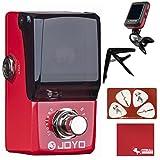 Joyo JF-329 Ironman Mini Iron Loop Looper Guitar Effects Pedal with Polish Cloth, Pick Card, Tuner, and Capo