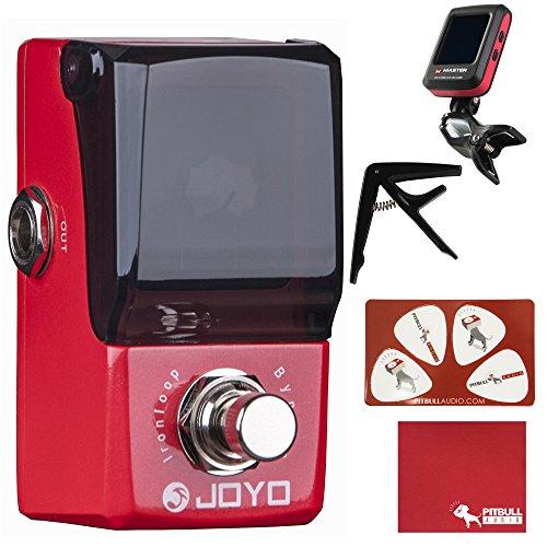 Joyo JF-329 Ironman Mini Iron Loop Looper Guitar Effects Pedal with Polish Cloth, Pick Card, Tuner, and Capo by JOYO