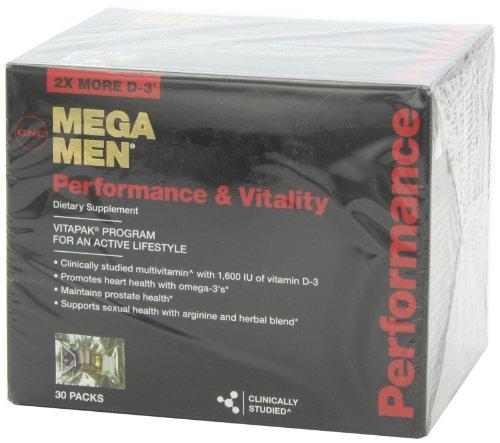 GNC MEGA MEN Performance and Vitality 30 Packs NEW and ...