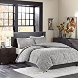 Madison Park Bismarck Ultra Plush Mini Comforter Set, King, Grey