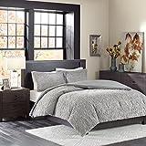 Madison Park Bismarck Ultra Plush Mini Comforter Set, King, Grey