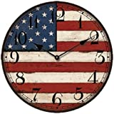 USA Flag Clock, 13.3