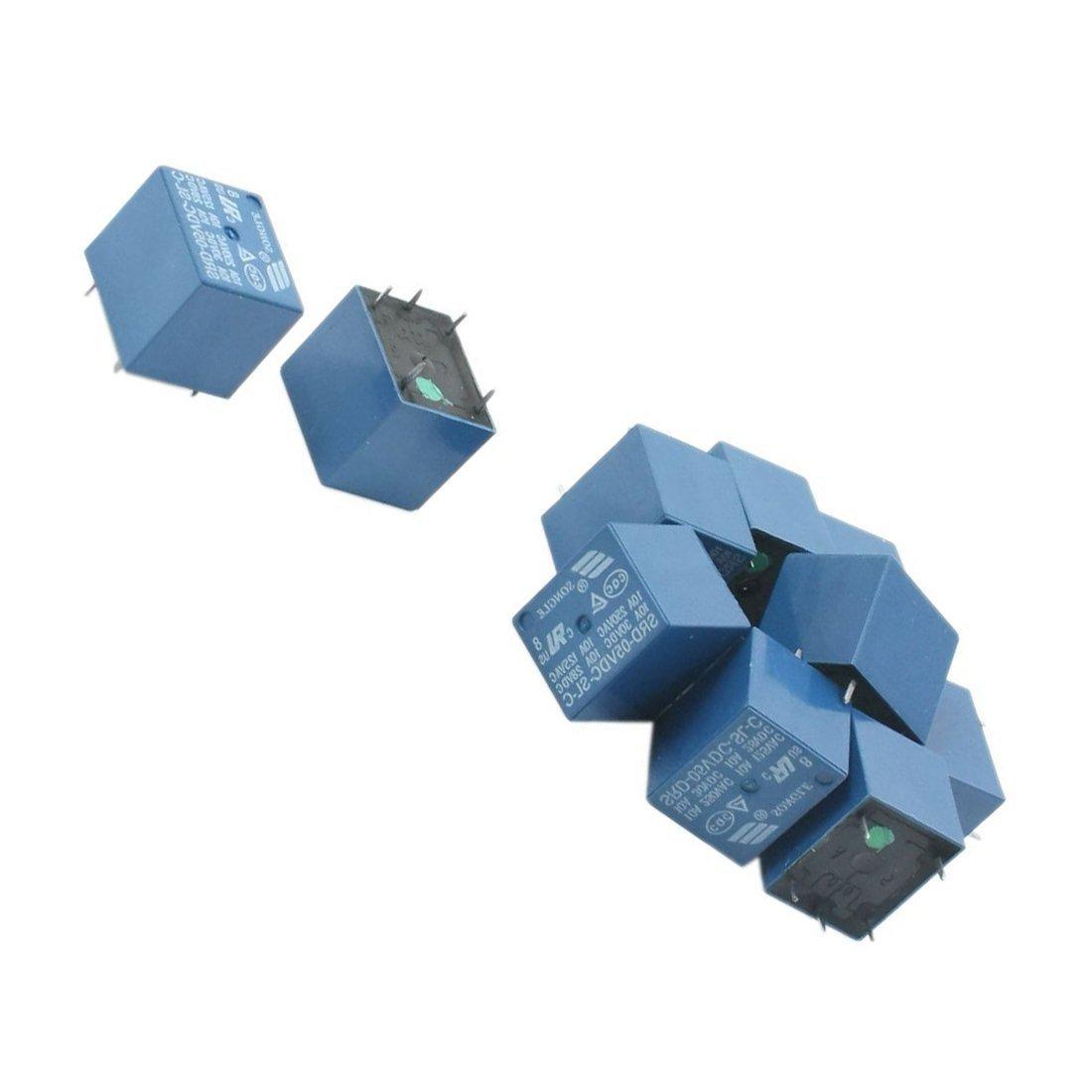 Power Relay Sodialr 10pcs Srd 05vdc Sl C Dc 5v Rating Coil Spdt Dc5v To Dc30v Converter By 74hc14 Miniature Blue