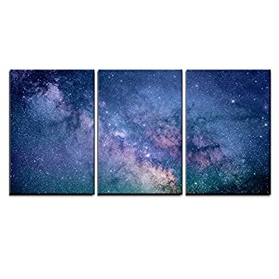Majestic Artistry, Starry Night Sky Deep Outer Space x3 Panels, Quality Artwork