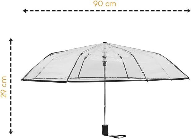 Ultra L/éger 250Gr Facile /à Ranger dans Un Sac Parapluie Ultra Compact 24CM Parapluie Pliant pour Femme Jaune avec Un Imprim/é Papillons Baleines en Fibre de Verre Incassables