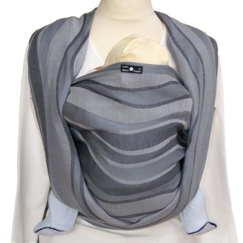 Didymos Waves Baby Sling, Silver, Size 8
