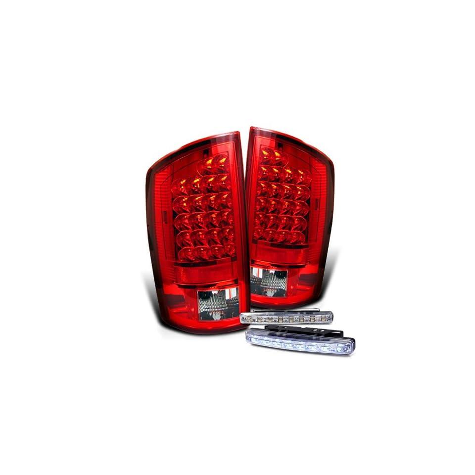 Eautolights 07 08 Dodge Ram LED Tail Lights + LED Bumper Fog Lamps Brand New Left + Right Set