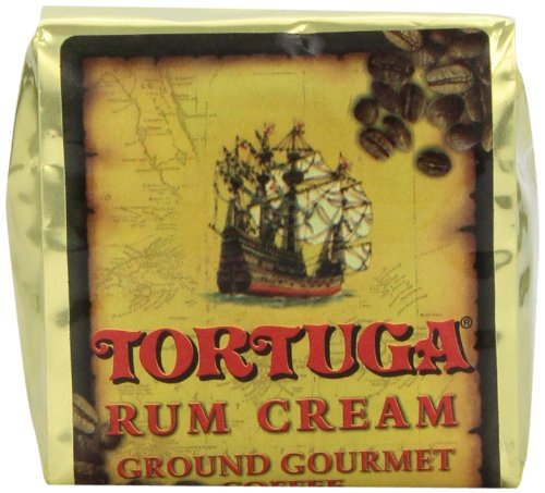 TORTUGA Caribbean Rum Cream Roasted Ground Coffee - 10oz - The Perfect Premium Gourmet Gift