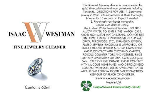 [해외]ISAAC WESTMAN 파인 쥬얼리 클리너 | /ISAAC WESTMAN Fine Jewelry Cleaner | Diamond, Platinum, Gold & Silver Jewelry | 60ml
