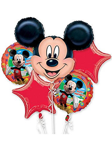 Mickey Mouse Birthday Bouquet of Balloons (Bouquet Balloon Shaped)