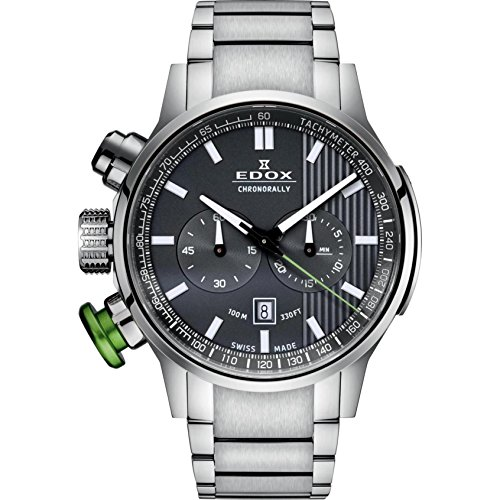 - Edox Men's 10302 3MV GIN Chronorally Analog Display Swiss Quartz Silver Watch