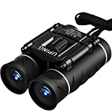Uping 8 X 22 Folding Binoculars Compact Design | Mini Travel Telescope with HD green film Optics Lenes | Kids and Adults | Black