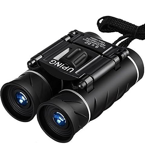 Uping 8 X 22 Folding Binoculars Compact Design   Mini Travel Telescope with HD green film Optics Lenes   Kids and Adults   (Folding Binoculars Kids)