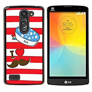 - I LOVE DADDY - - Cubierta del caso de impacto con el patr??n Art Designs FOR LG L Bello L Prime D337 Queen Pattern