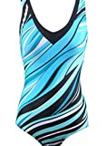 CharmLeaks Women's Pro One Piece Athletic Sports Swimsuit XX-Large Blue
