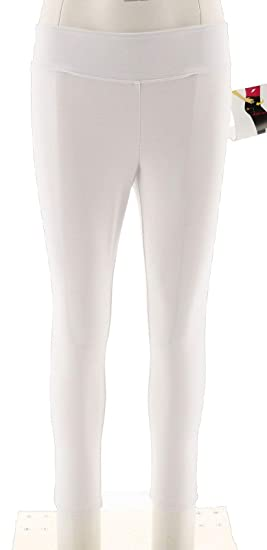 c4e80203ed569 Wicked Women Control Petite Cropped Knit Leggings Alabaster PXS New A288788