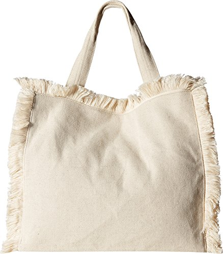 Hat Attack Women's Fringed Canvas Tote Natural One Size