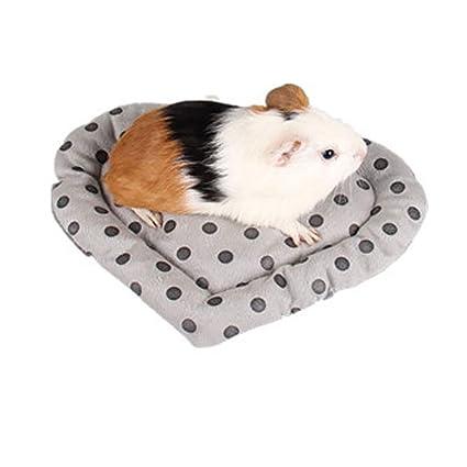 Ouken Totoro Suave Nido de Terciopelo Mascota pequeña Estera el Dormir Conejo Lavable Cama 1Pc Alfombra