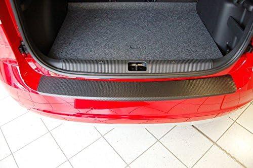 5J Protection de seuil de chargement-cARBON-style-film de protection-noir-convient pour-sKODA rOOMSTER mod/èles 2006