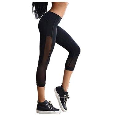 QUICKLYLY Yoga Mallas Leggins Pantalones Mujer,Polainas del ...