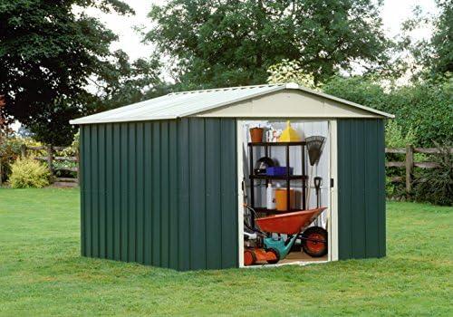 YardMaster – Caseta metálica de jardín 108GEYZ, de 7,18 m²: Amazon.es: Jardín