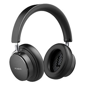 Mindkoo Cancelación de Ruido Activo Auriculares Bluetooth con Micrófono Hi-Fi Deep Bass Auriculares Inalámbricos