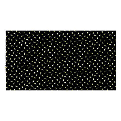 Timeless Treasures 0538306 You Are My You Are My Sunshine Bees Black Fabric by the Yard