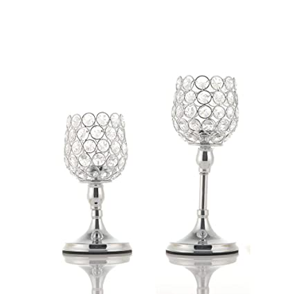 Prime Vincigant Silver Crystal Candle Holder Set Of 2 For Coffee Download Free Architecture Designs Grimeyleaguecom