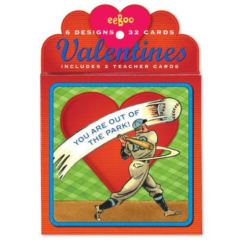 Amazon Greeting Card Valentines Day Boxed Cards Baseball 6 – Boxed Valentines Cards