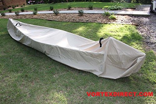 VORTEX TAN 14', 14.5', 15', 15.5', 16' CANOE/KAYAK COVER (FAST SHIPPING - 1 TO 4 BUSINESS DAY DELIVERY)