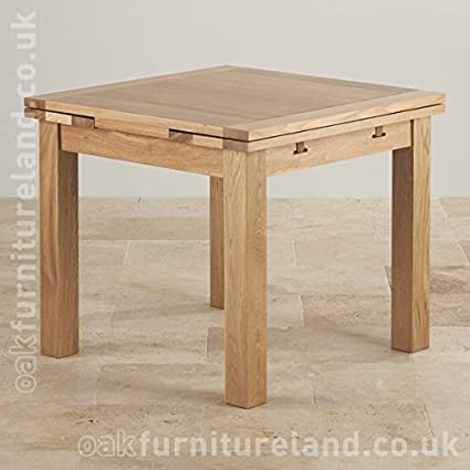 Dorset 3ft X 3ft Natural Solid Oak Extending Dining Table Seats Up To 6 People Extended Amazon Co Uk Kitchen Home
