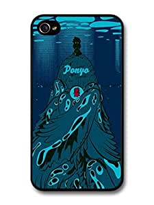 Ponyo on the Cliff Princess Blue Abyss Ocean Illustration case for iPhone 4 4S