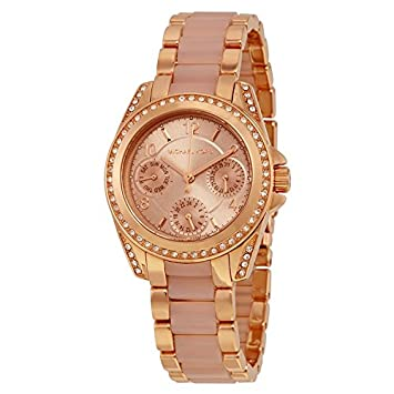 880d3fe964f5 Image Unavailable. Image not available for. Color  Michael Kors Women s  Mini Blair Rose Gold-Tone Watch MK6175