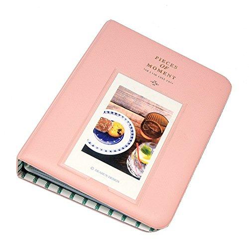 - EvZ 64 Pockets Photo Album for Mini Fuji Instax Polaroid & Name Card Pink