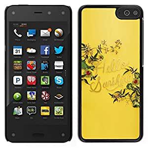 EJOY---Cubierta de la caja de protección para la piel dura ** Amazon Fire Phone ** --Hola Amarillo Sol Verano Cita