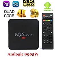 Mocei 3D Tv Box PRO Android 7.1 17.3 4K 1G+8G MXQ Smart Amlogic S905W Quad Core WiFi AU