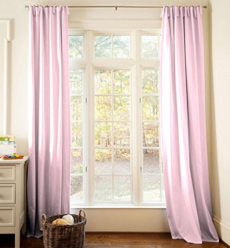 Carousel Designs Solid Bubblegum Pink Drape Panel 96-Inch Length Standard Lining 42-Inch Width by Carousel Designs