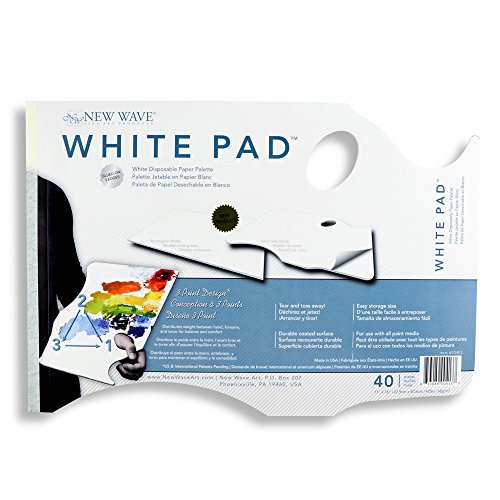 New Wave Palette, Hand Held with thumb hole, 11 x 16 inches, 40 sheets of white paper (00403) by New Wave