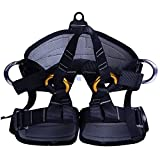 Climbing Half Body Harness Safe Seat Belts for Mountaineering Fire Rescue Higher Level Caving Rock Climbing Rappelling Equip