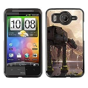 Caucho caso de Shell duro de la cubierta de accesorios de protección BY RAYDREAMMM - HTC G10 - En En Batalla