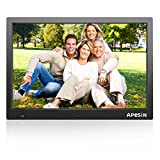 Digital Photo Frame, APESIN 15.4 Inch HD Screen(Black)